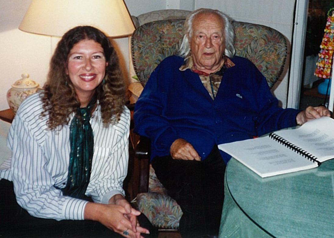 Carolyn Tipton with Rafael Alberti in Madrid